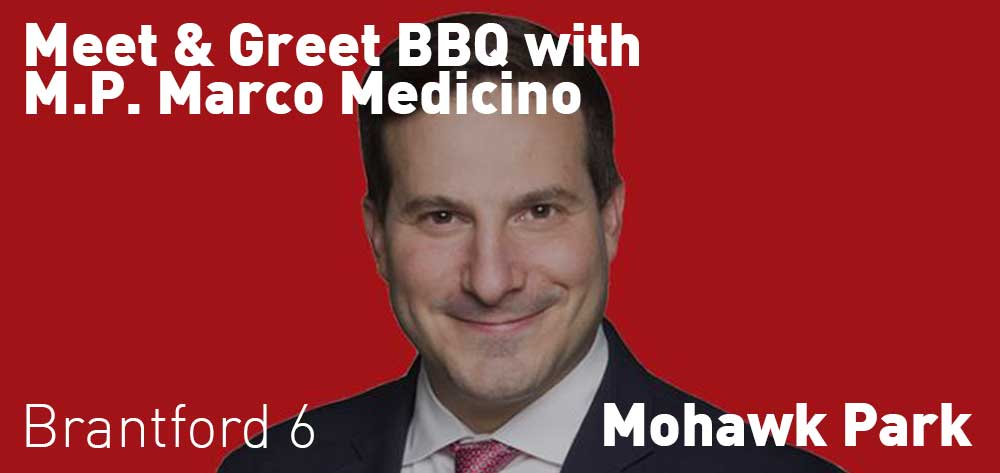 Meet & Greet BBQ with M.P. Marco Medicino | Mohawk Park Pavilion and Picnic Shelters | Tuesday, August 21, 2018 | 6pm
