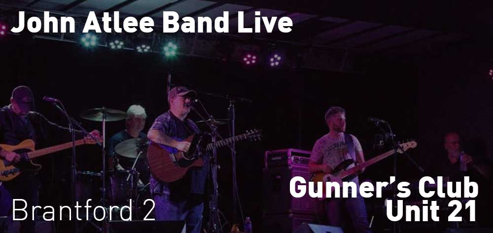 John Atlee Band | Gunner's Club Unit 21 | Saturday, December 22, 2018 | 2pm