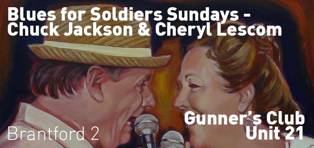 Blues for Soldiers Every Sunday | Gunner's Club Unit 21 | 2pm