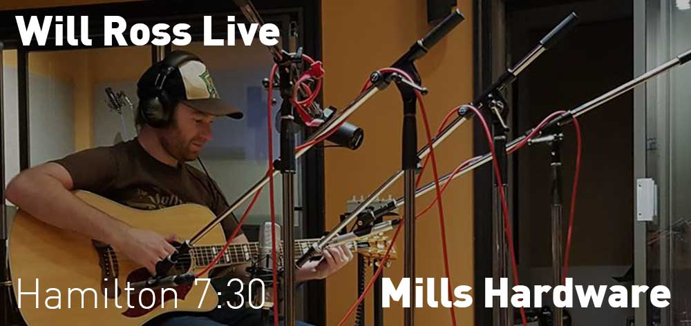 Will Ross - Live in Hamilton | Mills Hardware | Tuesday, August 21, 2018 | 7:30pm