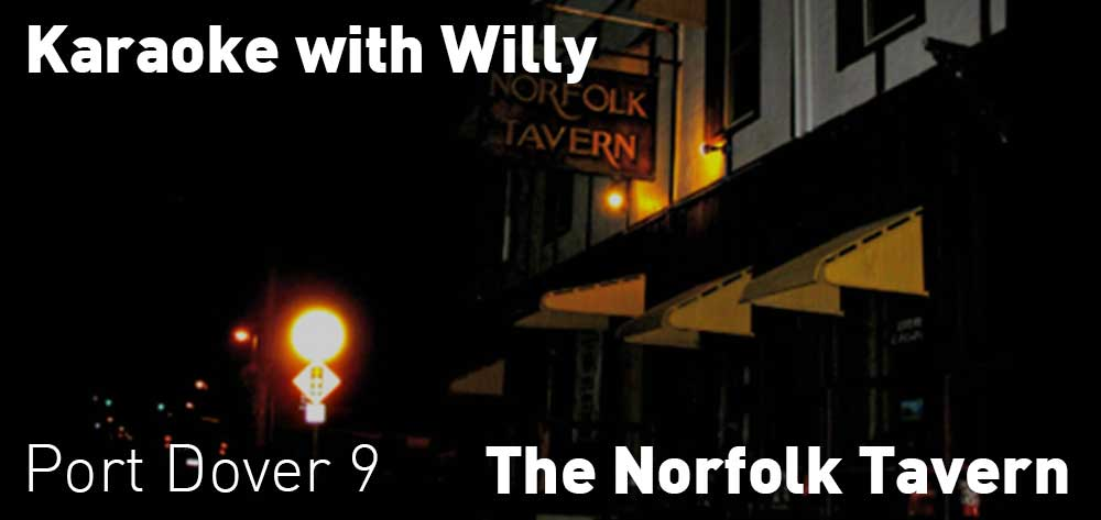 Karaoke with Willy | The Norfolk Tavern | Thursday, October 18, 2018 | 9pm