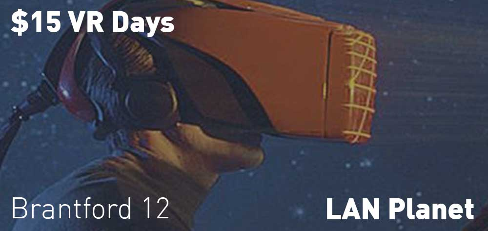$15 VR Days | Every Tuesday at LAN Planet | 12pm