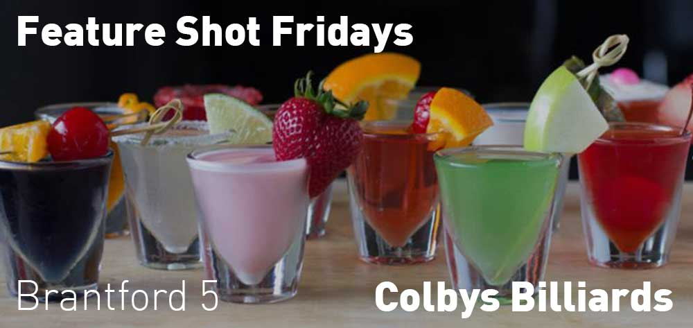 Feature Shot Fridays | Colbys Billiards | Friday, March 8, 2019 | 5pm