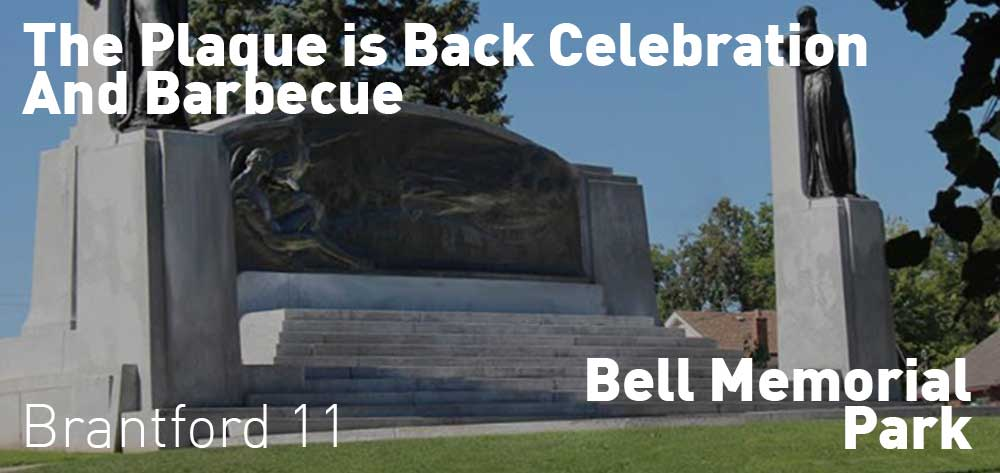 The Plaque is Back Celebration & BBQ | Bell Memorial Park | Thursday, September 19, 2019 | 11am
