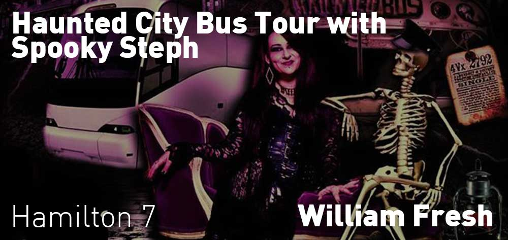 Haunted City BUS Tour with Spooky Steph | Williams Fresh Cafe | Saturday, February 23, 2019 | 7pm