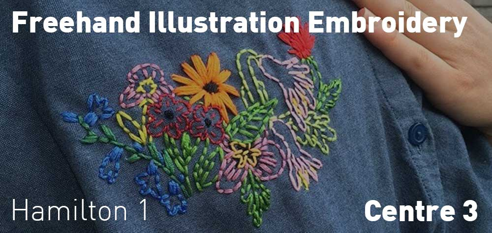 Freehand Illustration Embroidery with Mariel Rutherford | Centre 3 | Saturday, July 20, 2019 | 1pm