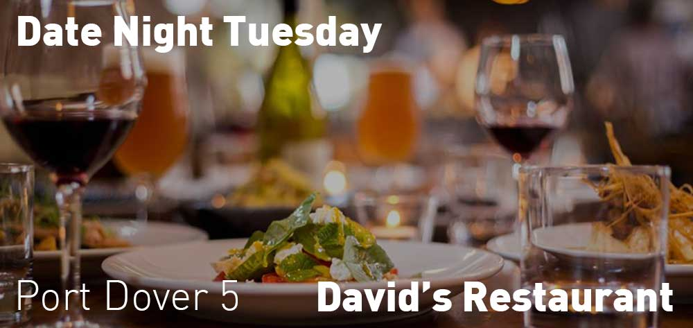 Date night at David's featuring half prize bottles wine for $65