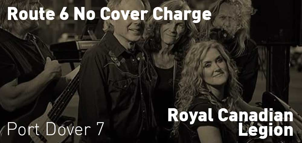 Route 6 No Cover Charge | Royal Canadian Legion | Saturday, July 20, 2019 | 7pm