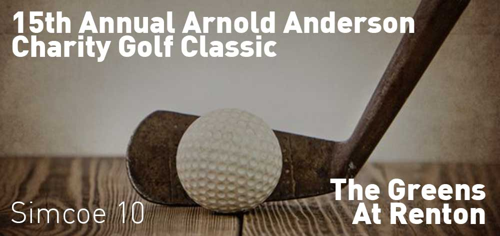 15th Annual Arnold Anderson Charity Golf Classic | The Greens At Renton | Friday, September 20, 2019 | 10am