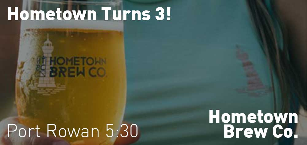 Hometown Turns 3 | Hometown Brew Co. | Friday, September 20, 2019 | 5:30pm