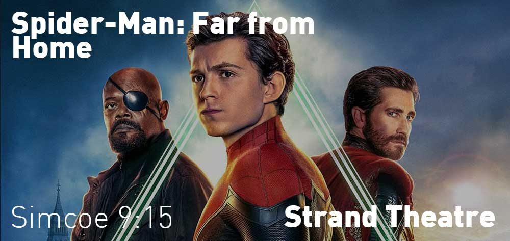 Spider-Man: Far from Home will be showing at the Strand theatre from Friday, July 19, 2019 to Thursday, July 25, 2019