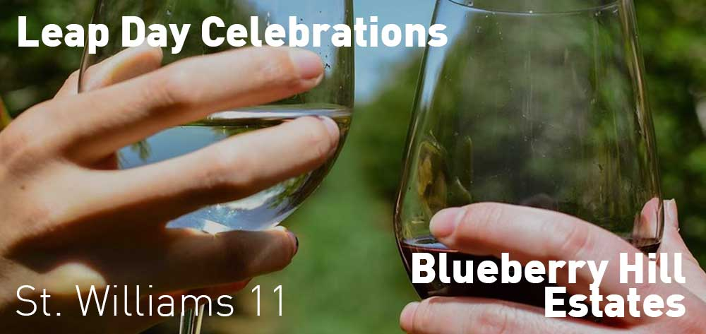 Leap Day Celebrations at Blueberry Hill Winery | Saturday, February 29, 2020 | 11am