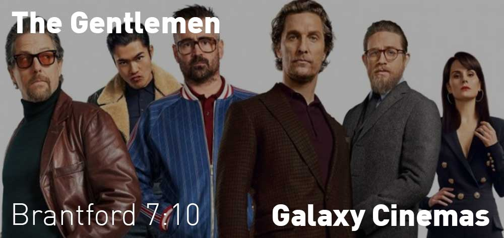The Gentlemen will be showing at different times at the Galaxy Cinemas from Friday, January 24, 2020