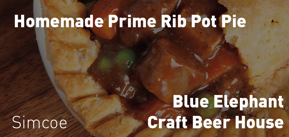 The Blue Elephant Craft Brew House has Homemade Prime Rib Pot Pies every Friday!