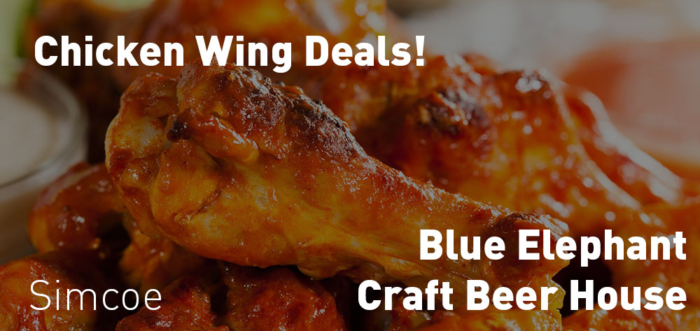 The Blue Elephant Craft Brew House has great Wing Specials from Monday to Thursday!