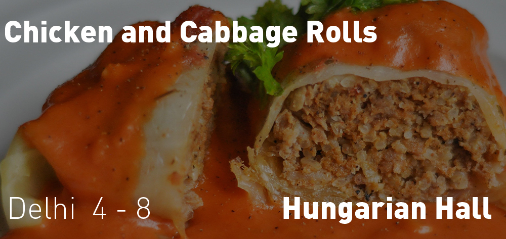 Hungarian Hall Chicken and Cabbage Roll Dinner
