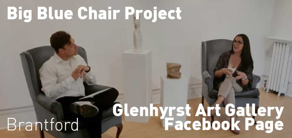 Big Blue Chair Project Every Wednesday on Glenhyrst Art Gallery of Brant Facebook Page