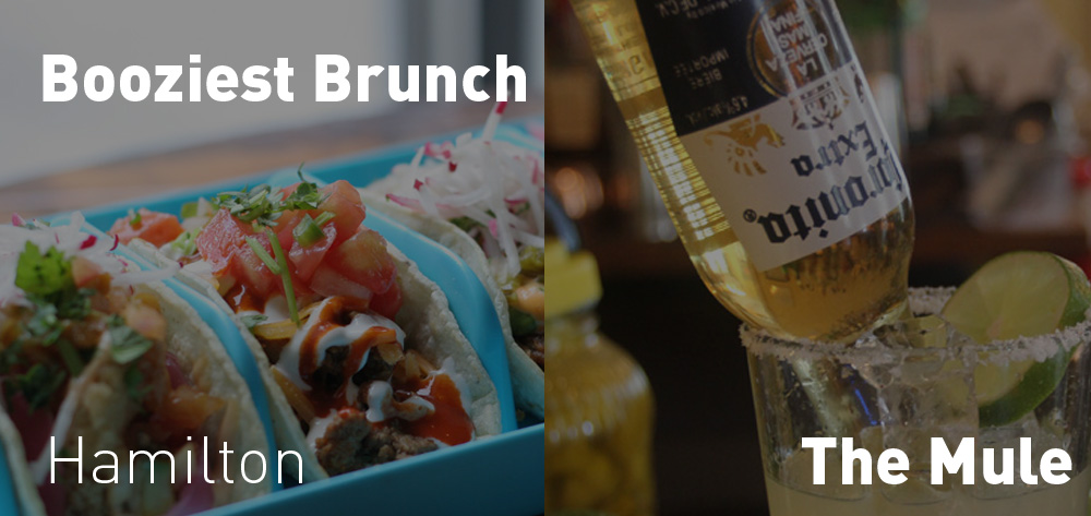 The Booziest Brunch happens at The Mule Saturdays and Sundays from 11 - 3!