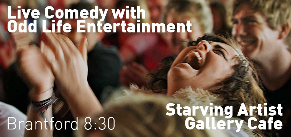 Starving For Comedy, Starving Artist Gallery Cafe, Friday September 22, 8:30pm