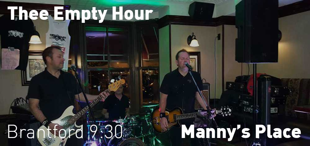 Thee Empty Hours performs live at Manny's Place. Friday September 22. Time is 9:30pm
