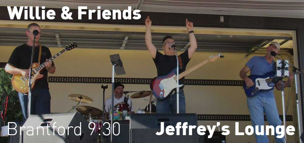 Willie & Friends at Jeffrey's Lounge. This Friday September 22 at 9:30pm