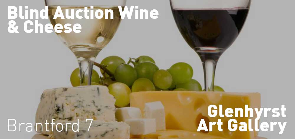 Blind Auction Wine & Cheese at the Glenhyrst Gallery. Wednesday September 27, 2017 @ 7pm - 9pm