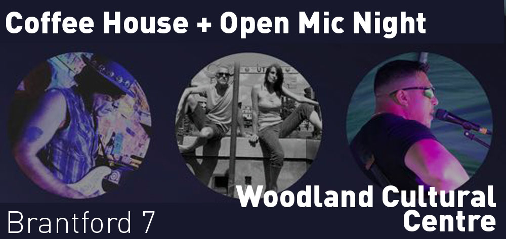 There is a Coffee House + Open Mic Night at Woodland Cultural Centre on Saturday October 19th at 7 PM!