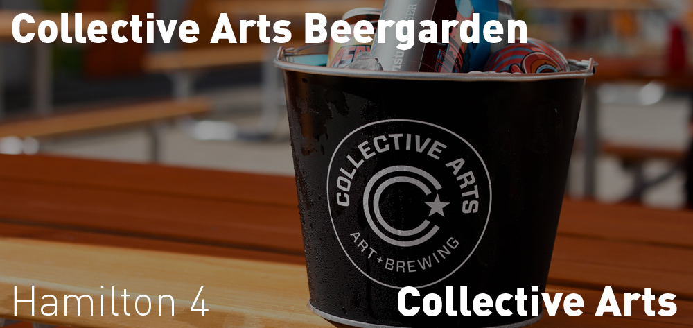 There is a Beergarden at Collective Arts Brewery Thursday and Friday opening at 4pm, Saturdays at 2pm, and Sunday at 12pm!