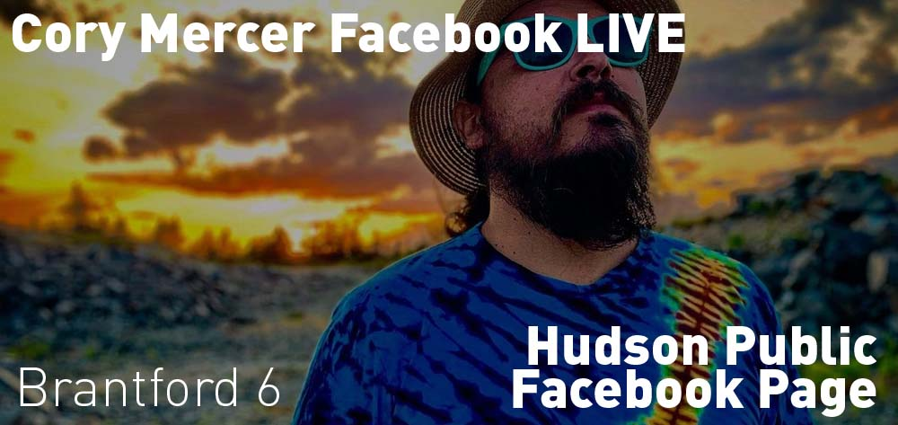 Corey Mercer is on Hudson Public's Facebook Page going live on Thurday March 26 at 6 PM!