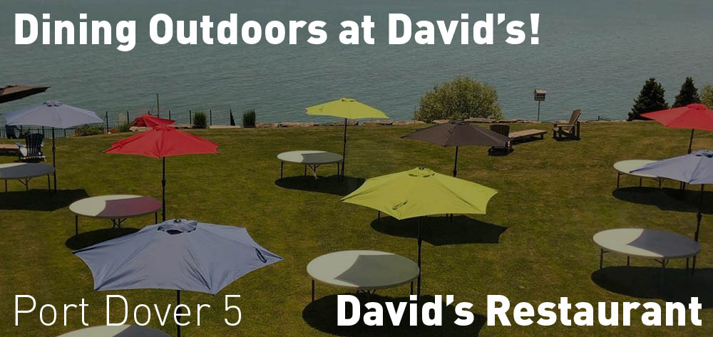 David's Restaurant is set-up for outdoor dining!