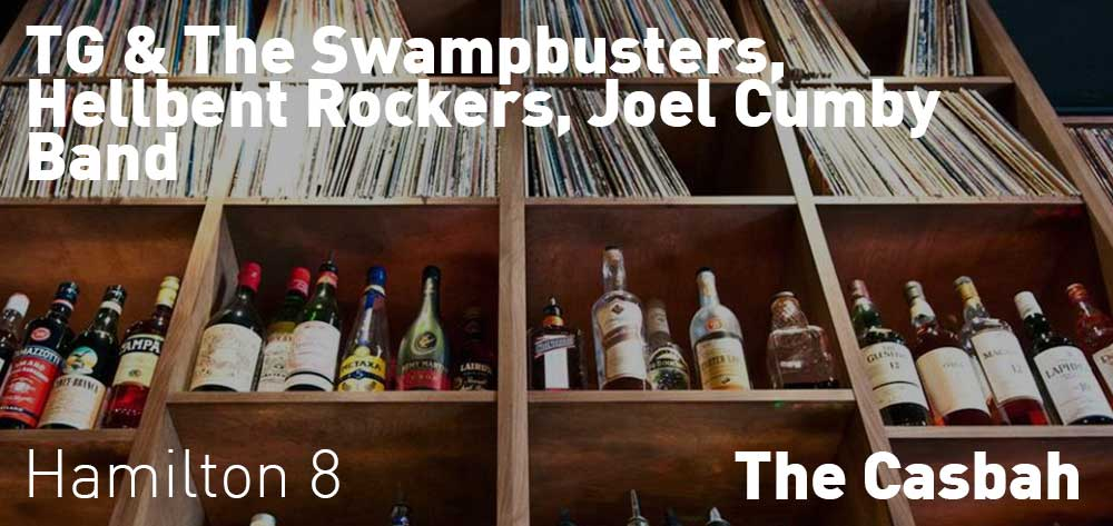 TG & The Swampbusters, Hellbent Rockers, Joel Cumby Band | The Casbah | Friday, February 23, 2018 | 8pm