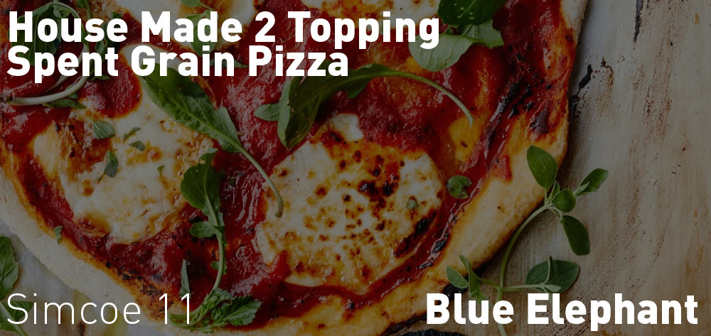 Wednesdays have House Made 2 Topping Spent Grain Pizza on special at the Blue Elephant!