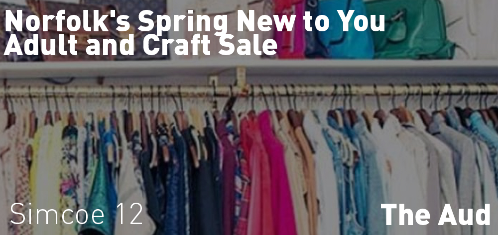 Norfolk's Spring New to You Adult and Craft Sale is on at the Aud on Sunday April 28th at 12 PM!