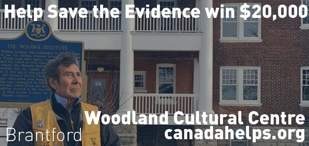 Help the Woodland Cultural Society win $20000 for their Save The Evidence Campaign!