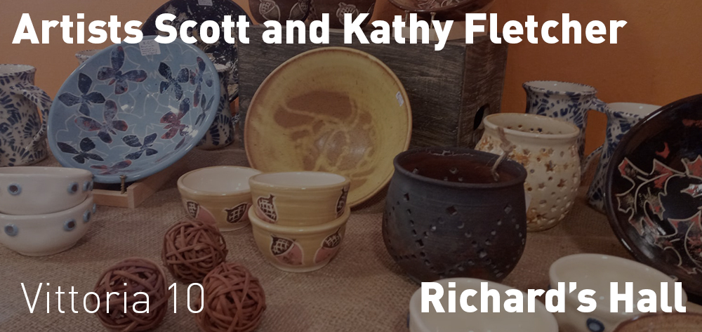 Scott and Kathy Fletcher have their works on display at the Gallery Cafe for the month of November.