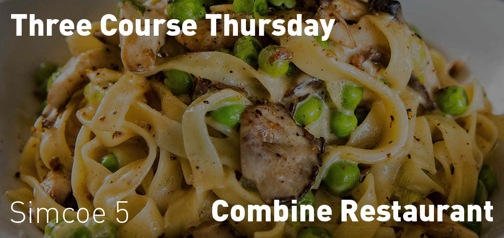 Three Course Thursdays at the Combine!