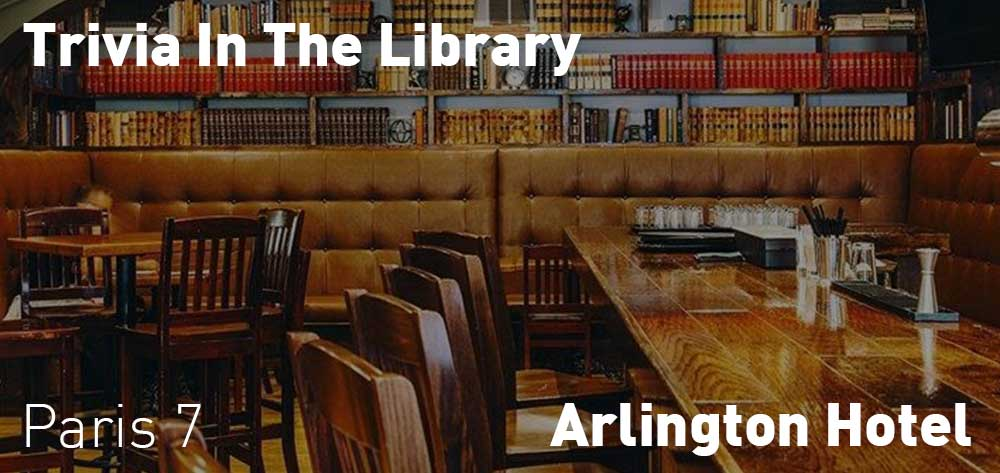 Trivia in the Library | Arlington Hotel | Wednesdays at 7pm